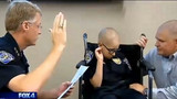Boy With Cancer Made  Honorary Officer