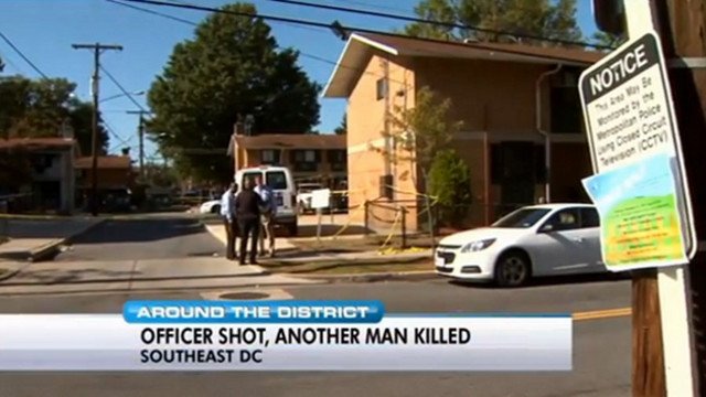 D.C. Officer Wounded in Shooting; Man Dead