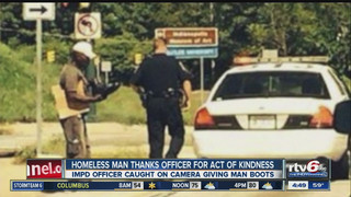 Photo Shows Indy Cop's Act of Kindness