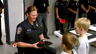 Boy Donates Body Armor to Indy Police