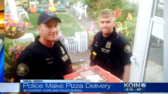 Portland Police Protect and Serve Pizza After Crash