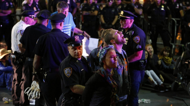 100 Arrested at Wall Street Climate Protest