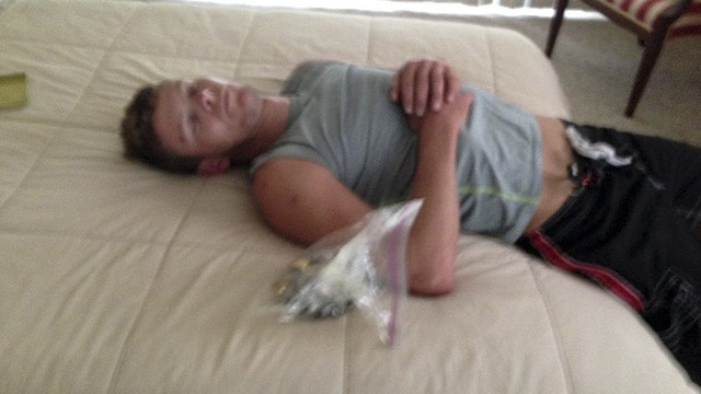 Fla. Police Photograph Sleeping Burglar