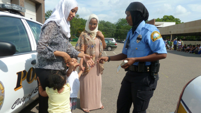 Female Somali Cop On the Beat in St. Paul