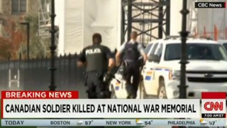 Canadian Soldier Killed at War Memorial