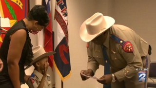 Girl Battling Cancer Becomes Texas Trooper