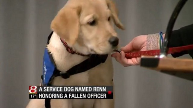Dog Named in Slain Officer's Honor