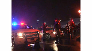 Raw: Small, Scattered Protests in Ferguson