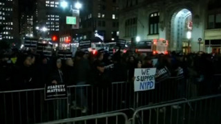 NYC Rally Supporting Officers Butts Heads With Anti-Police Protest
