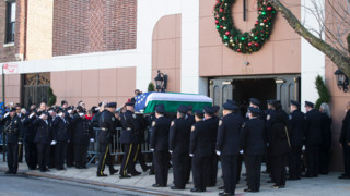Thousands at Wake for Fallen NYPD Officer