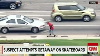 Man Tries to Flee From Police on a Longboard