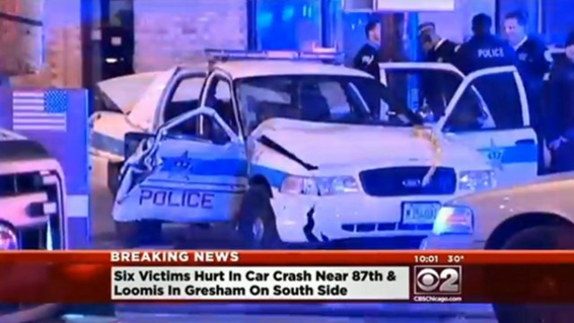 Chicago Officers Injured in Cruiser Crash
