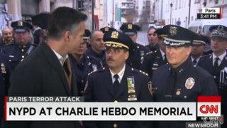 NYPD Officers Attend Memorial in France
