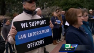 Supporters Rally for Police in Sacramento