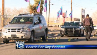 Supect in Shooting of N.M. Officer Sought
