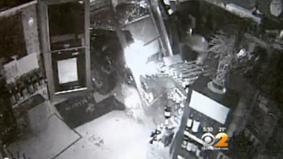 Surveillance Cameras Capture Smash-And-Grab Robbery