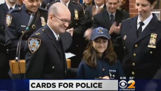 NYPD Honors Texas Girl Who Sent Cards