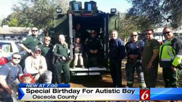 Deputies Help Save Autistic Boy's Birthday