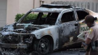 Florida Police Cruisers Targeted, Burned