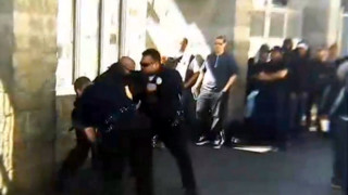 LAPD Officers in Another Skid Row Struggle