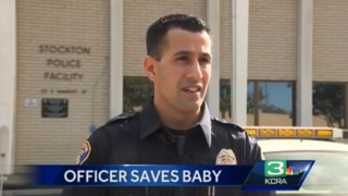 Stockton Police Officer Saves Baby's Life
