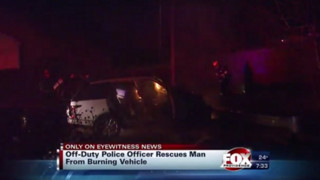 Off-Duty Officer Saves Man From Burning SUV