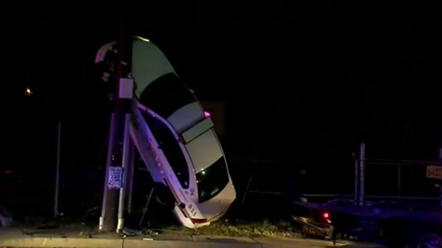 Video: Md. Cruiser Goes Vertical After Crash