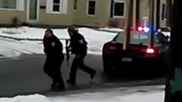 Video Shows Officer After Being Shot