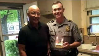 OKC Officer Brings Man Cake for His Birthday