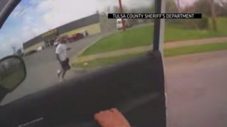 Raw: Oklahoma Police Officer Shoots Suspect