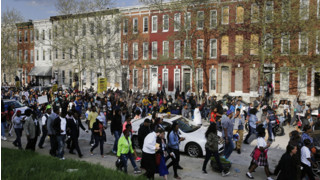 Protesters Take to the Streets in Baltimore