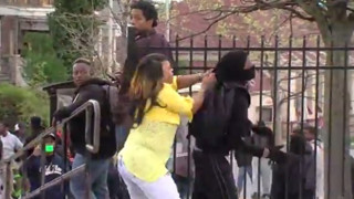 Angry Baltimore Mom Beats Rioting Son