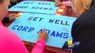Vigil Held for Wounded Maryland Police Officer