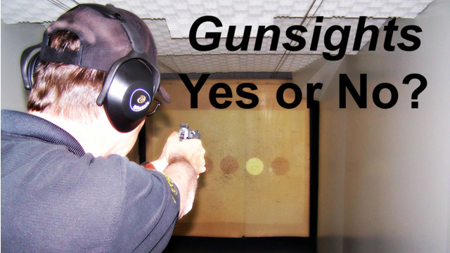 Gun sights in Gun Battles - Yes or No?