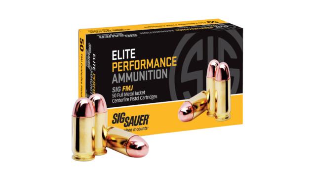 SIG SAUER Introduces SIG FMJFull Metal Jacket Centerfire Pistol Cartridges