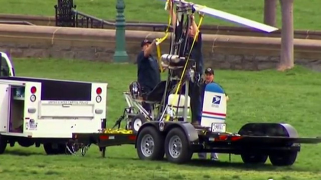 Aircraft Lands at Capitol, Pilot Arrested