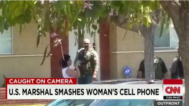 U.S. Marshal Smashes Woman's Cell Phone