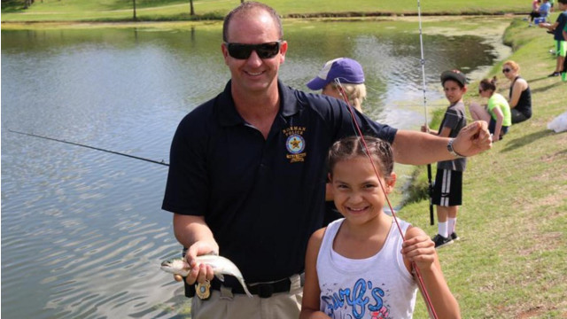 Police Fish With Kids to Build Relationships