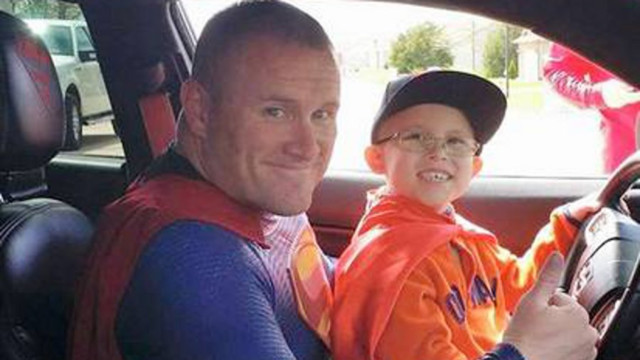 Cop Drives 11 Hours to be 'Superman' for Boy