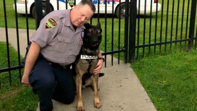 Retired Ohio police officer gets to buy K-9 partner for $1