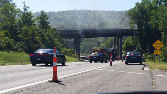 State Trooper, 2 Men Pull Crash Victim From Burning Car