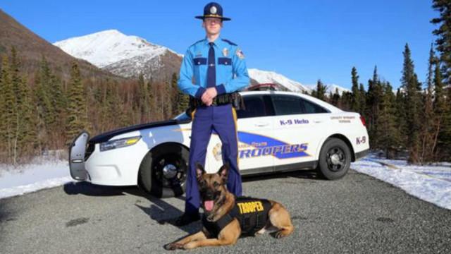 Trooper K9 dead, suspect shot in shoulder