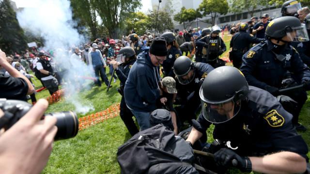 Berkeley protest over President Donald Trump spirals into violence