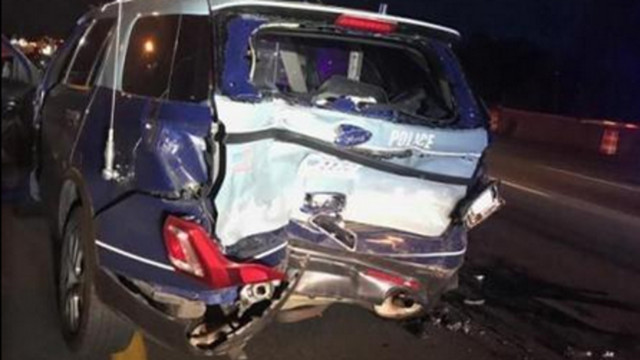 Trooper chases drunken driving suspect who rear-ended cruiser
