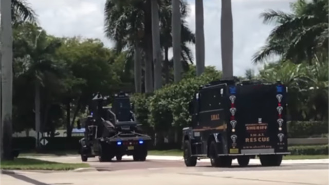 Large police presence outside Boca Country Club
