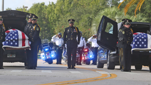Funeral services for Kissimmee police officers shot, killed in line of duty