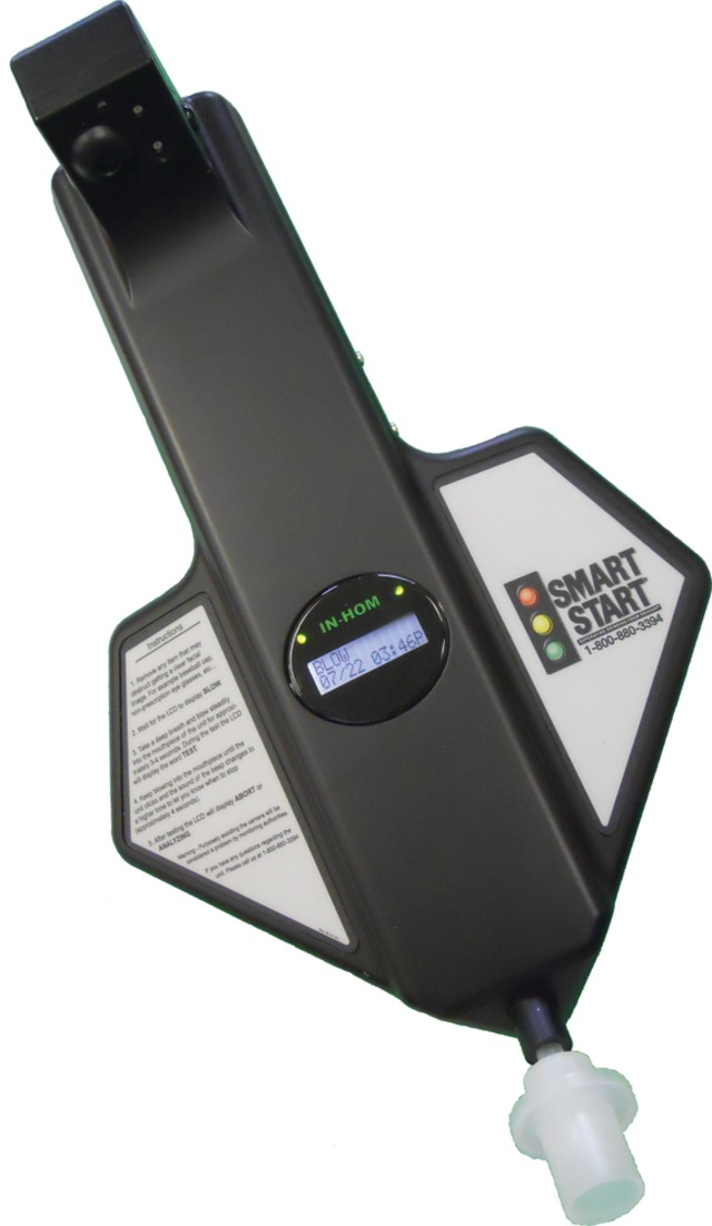 SMART START IN-HOM Breath Alcohol-Monitoring System in
