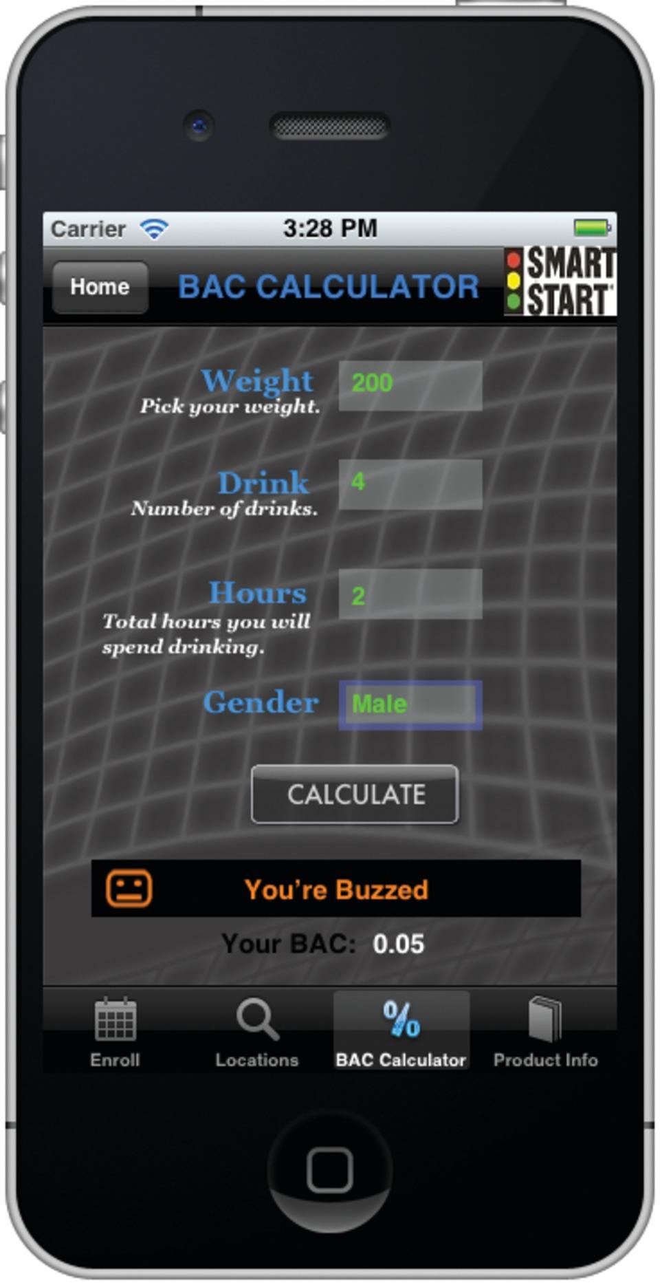 SMART START DWI Smartphone App (Apple & Android) in Handheld
