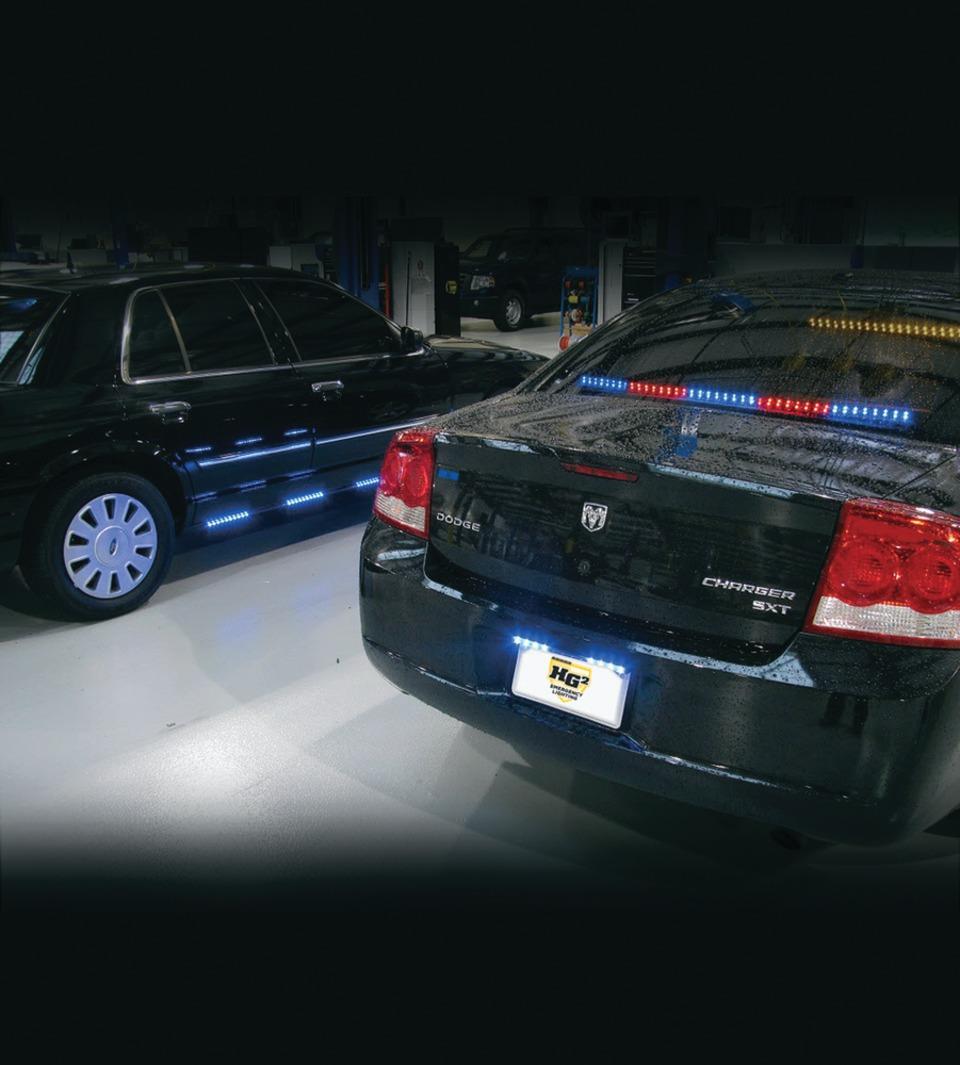 hg2 emergency lighting crossfire license plate emergency lighting