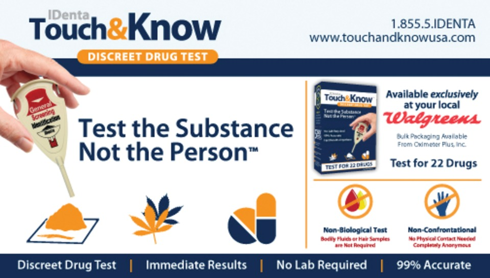 IDENTA CORP  Touch&Know Non-Biological Drug Testing Kit in